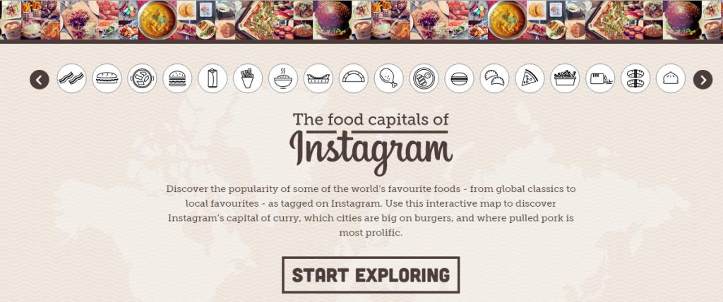 mappa del cibo photowrold